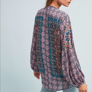 Anthropologie Tolani peasant top Large